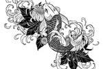 吉祥如意锦鲤插画