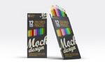 彩色铅笔包装样机