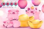 猪年春节插画