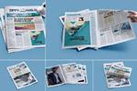 报纸设计排版样机