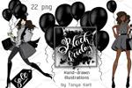黑五时尚服饰插画