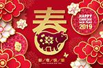 猪年中国风海报