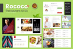 食品店网站UI套件