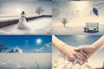 冬季雪景海报