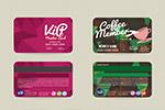 会员卡设计矢量