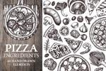 比萨配料矢量食品