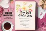 少女元素婚礼邀请函