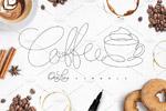 咖啡线型图形