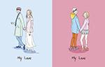 情人节手绘插画
