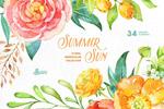 夏天花卉插画