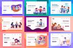 扁平化商务插图网页