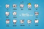 卡通儿童牙科插图