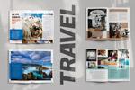 旅游杂志模板