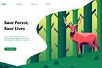 动物插画网页UI