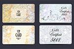 蝴蝶结花纹装饰礼品卡
