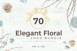 花卉装饰标志