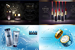 化妆护肤产品海报
