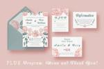 花卉装饰结婚邀请函