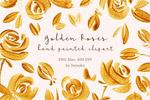 金色玫瑰花剪贴画