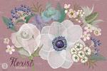 淡雅水彩海葵花束