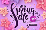花朵元素春天广告