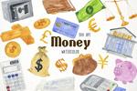 手绘金融主题插画