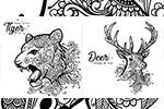 花纹图案装饰动物