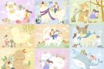 动物与人卡通插画