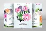 清新夏季花卉海报