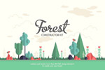 卡通森林风景插画
