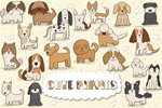 卡通可爱小狗插画
