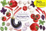 营养蔬菜水彩元素