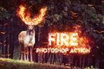 火焰装饰效果PS动作