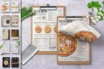 披萨店餐厅菜单