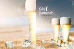 夏季酷爽啤酒海报