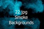 抽象蓝绿色烟雾背景