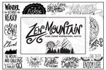 山脉元素手绘字母