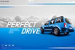 蓝色调汽车广告