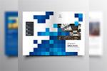 格子图案画册页面