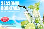柠檬水广告矢量