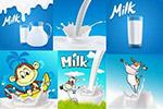 牛奶宣传单