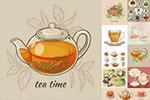 茶具美食插画