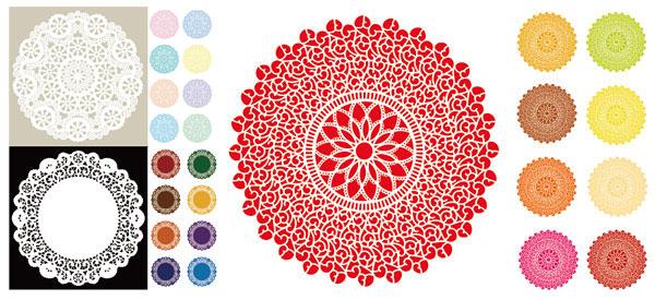 圆形古典花纹 边框背景
