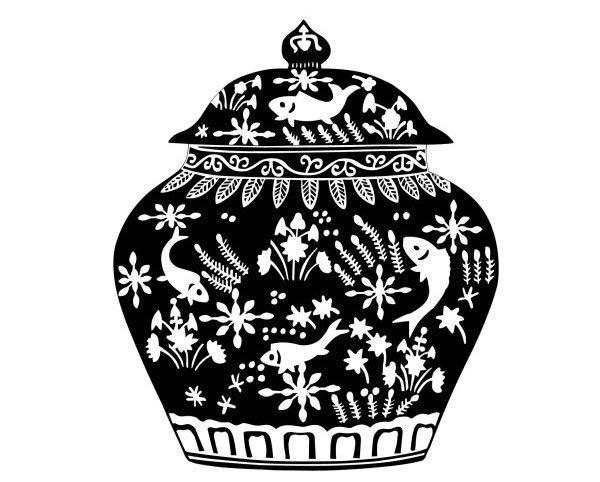 传统花瓶图案 传统图案 素材中国