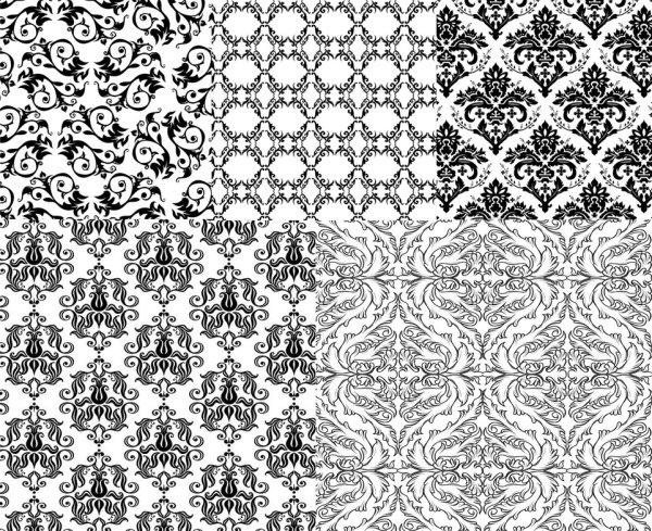 黑白欧式花纹,花纹边框,矢量素材,办公资源,三优山东企业网 产品