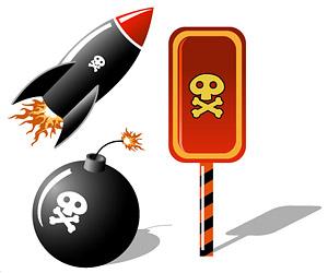 骷髅导弹炸弹