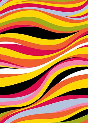 色彩线条背景_矢量背景