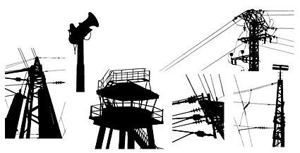 电力设施剪影