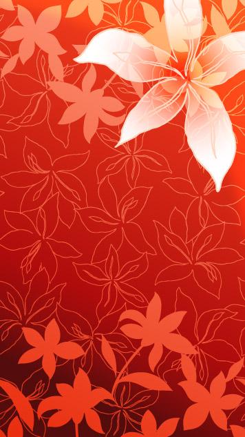 百合花与线描花卉