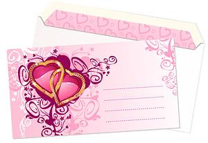 精美心形图案信封